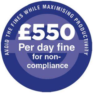 £550 per day fine